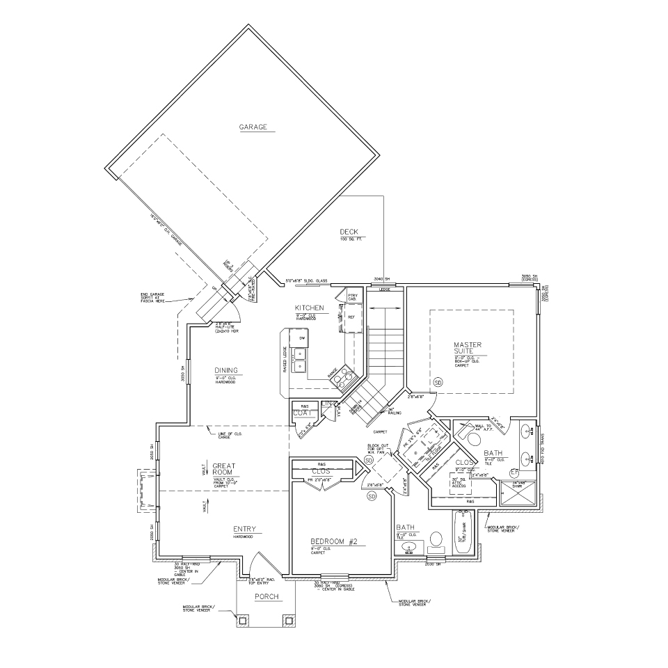 Forestgait ranch reverse 1 1 2 story bellah Reverse one and a half story house plans